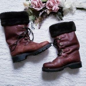 Canadian Sorel Leather Boots Vintage Size 7.5